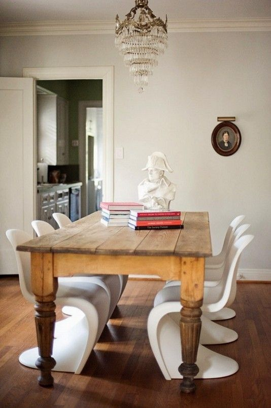 Farmhouse Table Modern Chairs Formal Chandy With Images Interior House Interior Dining Room Furniture