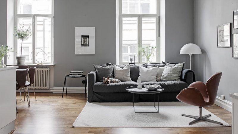 Une déco scandinave en gris et blanc Salons