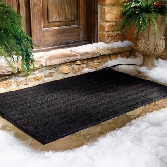 Our Heated Outdoor Entry And Stair Mats Keep Your Entryways Clear And Safe  During The Snow Season Without Harsh Chemicals That Can Pit Or Stain  Surfaces.