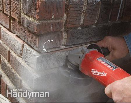 Masonry How To Repair Mortar Joints Brick Repair Repair Cracked Concrete Mortar Repair