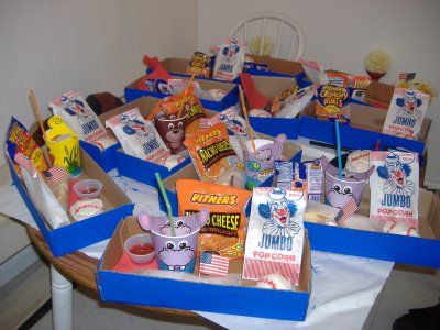 Drive in theater birthday party concession stand box also rh pinterest