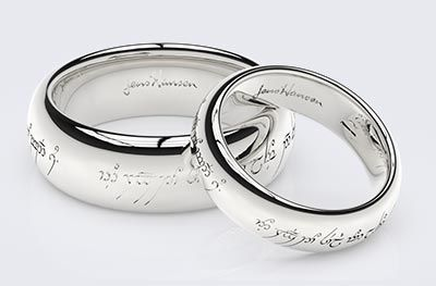 Lord of the Rings Wedding Rings Weddings Pinterest Elvish