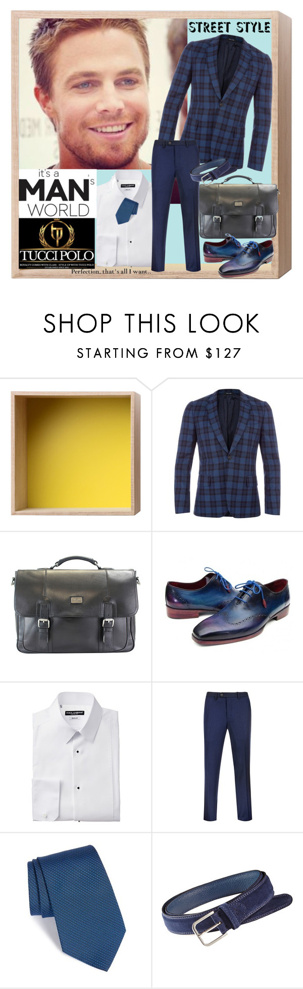 """TUCCIPOLO  -  Men's Fashion"" by fantasiegirl ❤ liked on Polyvore featuring Muuto, Paul Smith, The British Belt Company, Ted Baker, Versace, women's clothing, women's fashion, women, female and woman"