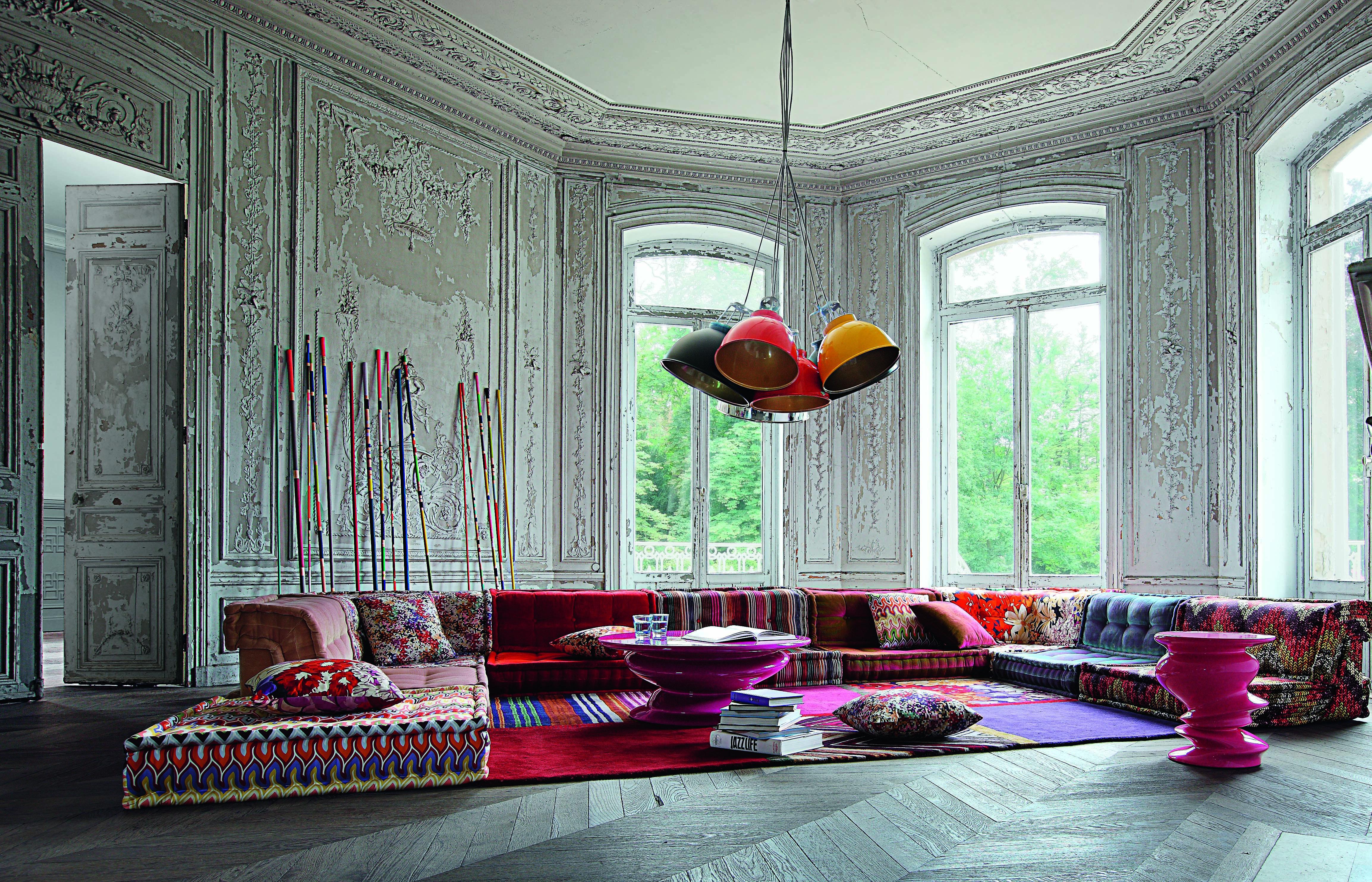 Roche Bobois Mah Jong Modular Sofa Upholstered In Missoni Home Fabrics Mahjong Sofa Ro Contemporary Home Furniture Missoni Home Moroccan Decor Living Room
