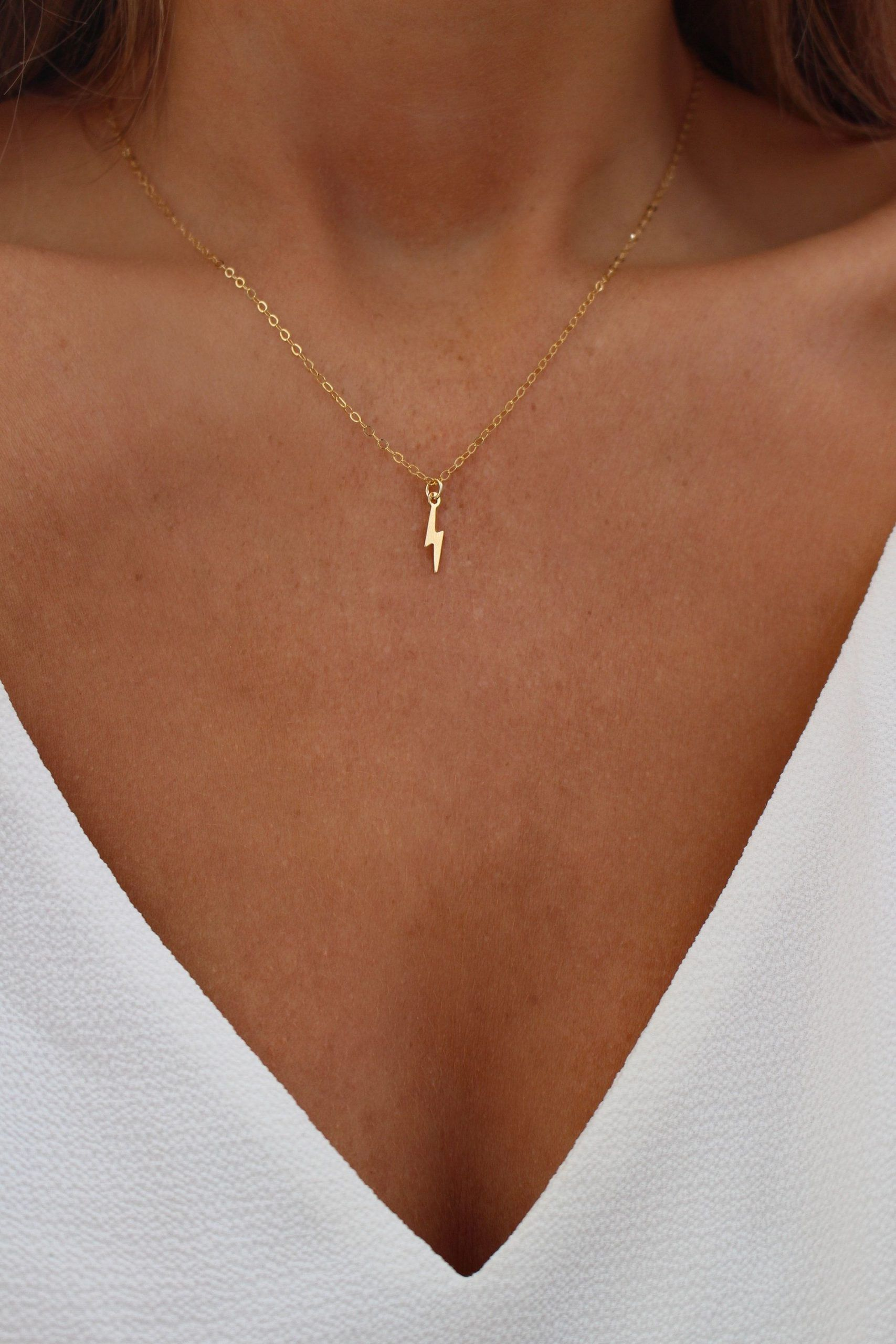 Photo of Gold lightning necklace | Dainty gold chain Lightning necklace | Wizard necklace | Bolt necklace | Gift for her | Flash necklace – geldeizleme.com/de