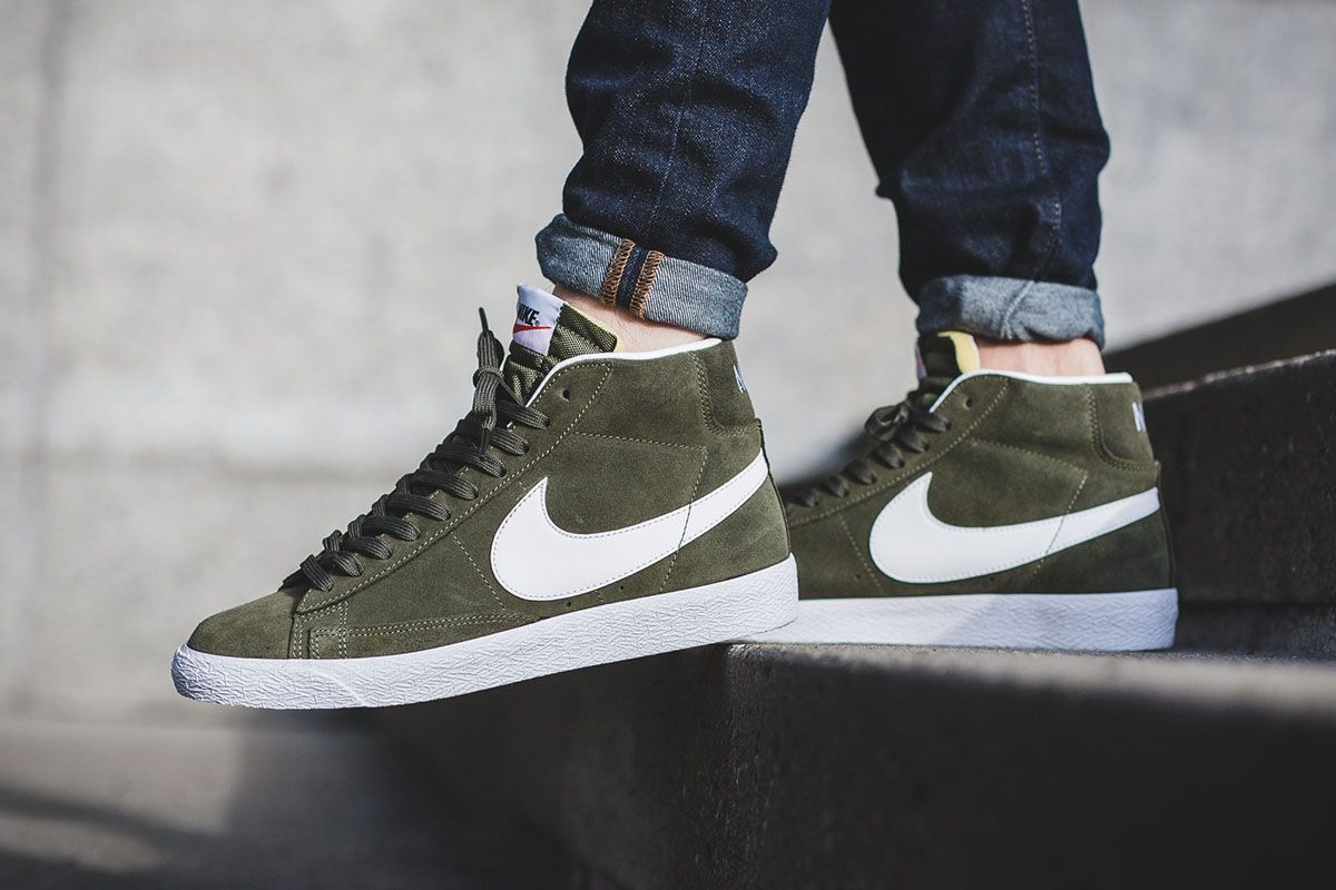 Nike Blazer Mid Premium Urban Haze comes dressed in a Urban Haze Green,  White and Gum Light Brown color scheme that's releasing now through select  shops.