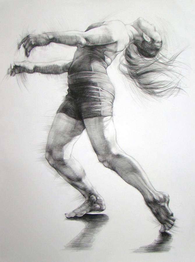 Картинки человека в карандаше в движении