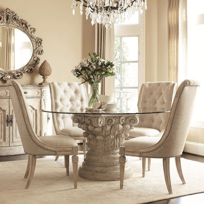 10 Round Dining Tables To Create A Cozy And Modern Decor Luxury Dining Room Round Dining Room Glass Dining Room Table