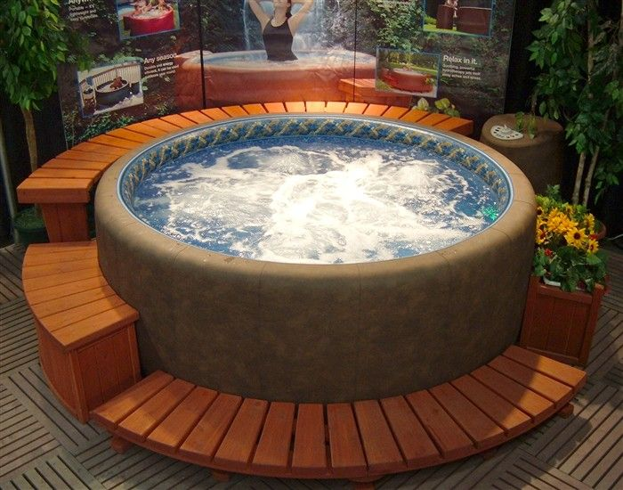spa cleaning or hot soft tub