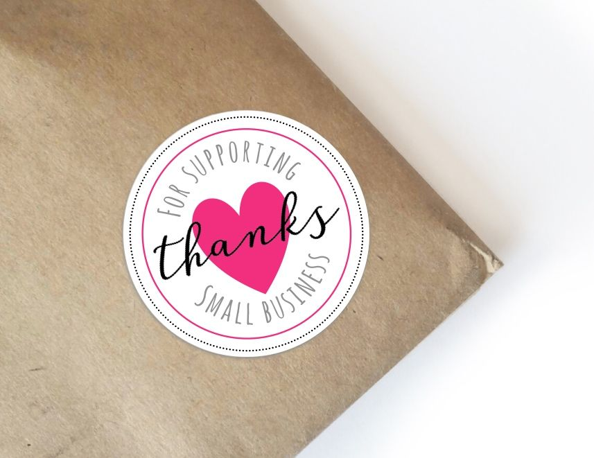Thanks For Supporting Small Business Packaging Ideas 60 Stickers