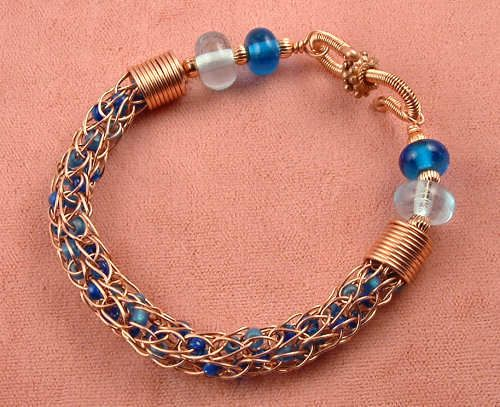 Knitting With Wire Tutorial : Wire crochet bracelet with beads tutorial youtube