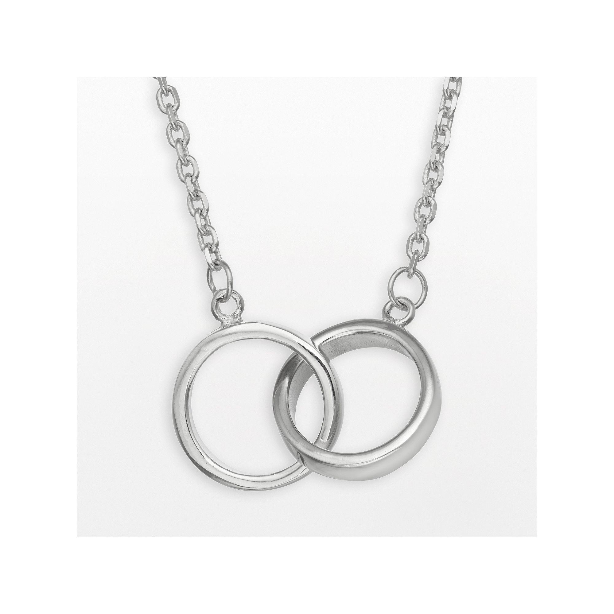 Kohlus sterling silver interlocking circle infinity necklace