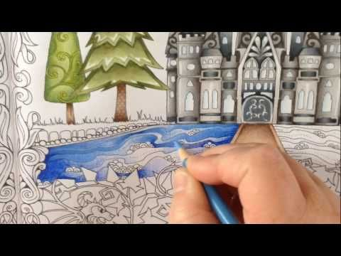 Http Www Youtube Com Watch V Tqokvhbimv0 Enchanted Forest Coloring Book Enchanted Forest Coloring Forest Coloring Book