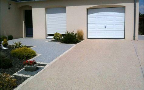 Projet du0027aménagement du0027allée de garage en béton désactivé deco - Dalle Pour Parking Exterieur
