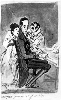 Cantan para el compositor - Francisco de Goya