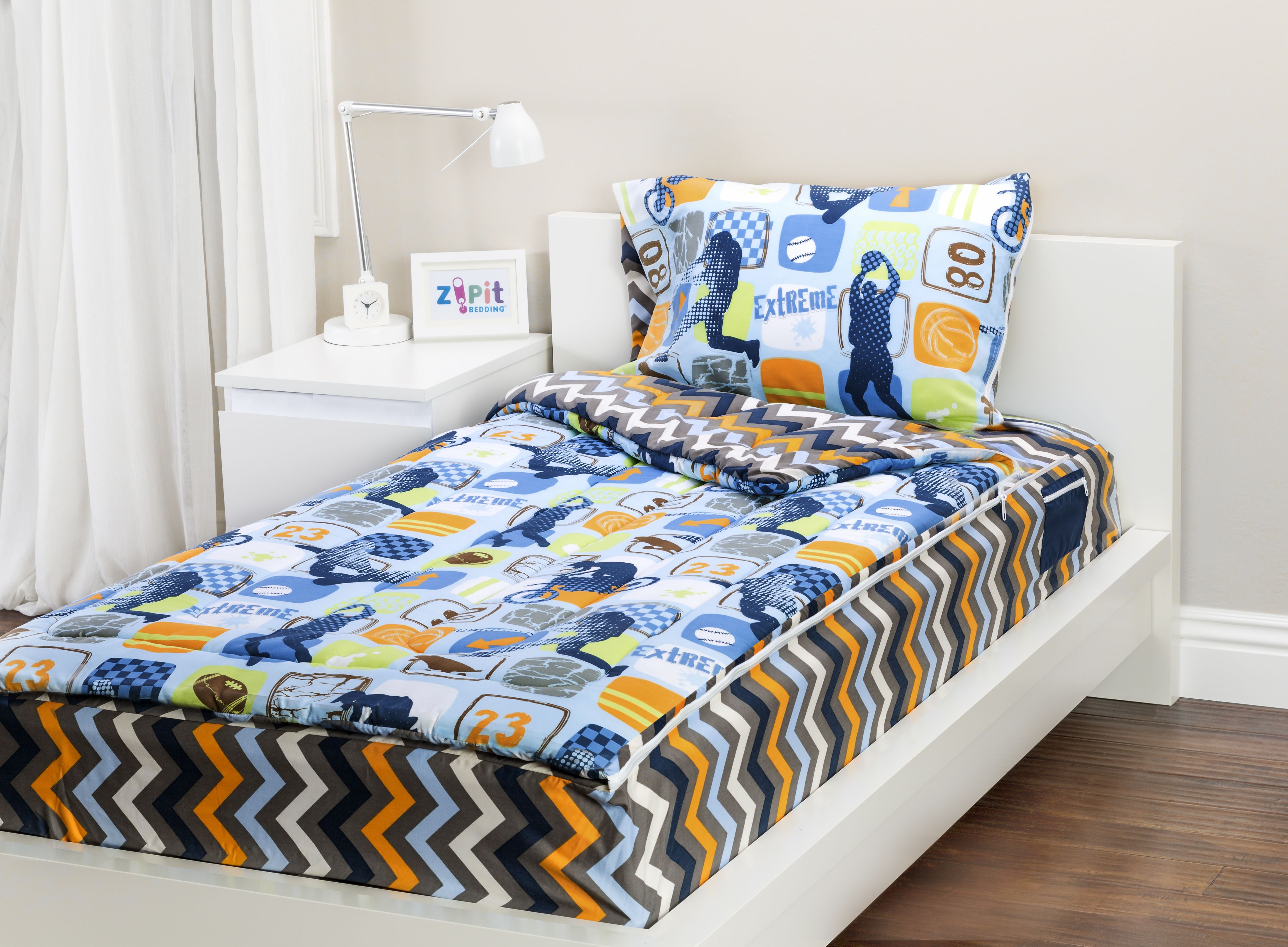 Extreme Sports Zipit Bedding Set! Zipit Bedding is America