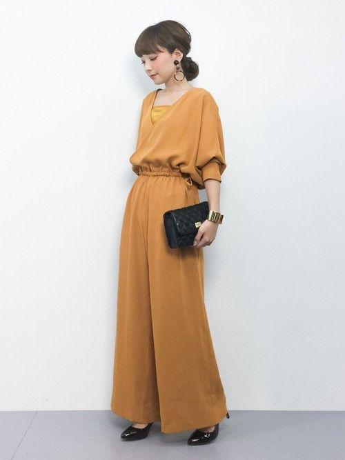 Ayumi Zozotown Adam Et Rope のつなぎ オールインワンを使ったコーディネート ドレス ファッション ファッション 二次会 ワンピース