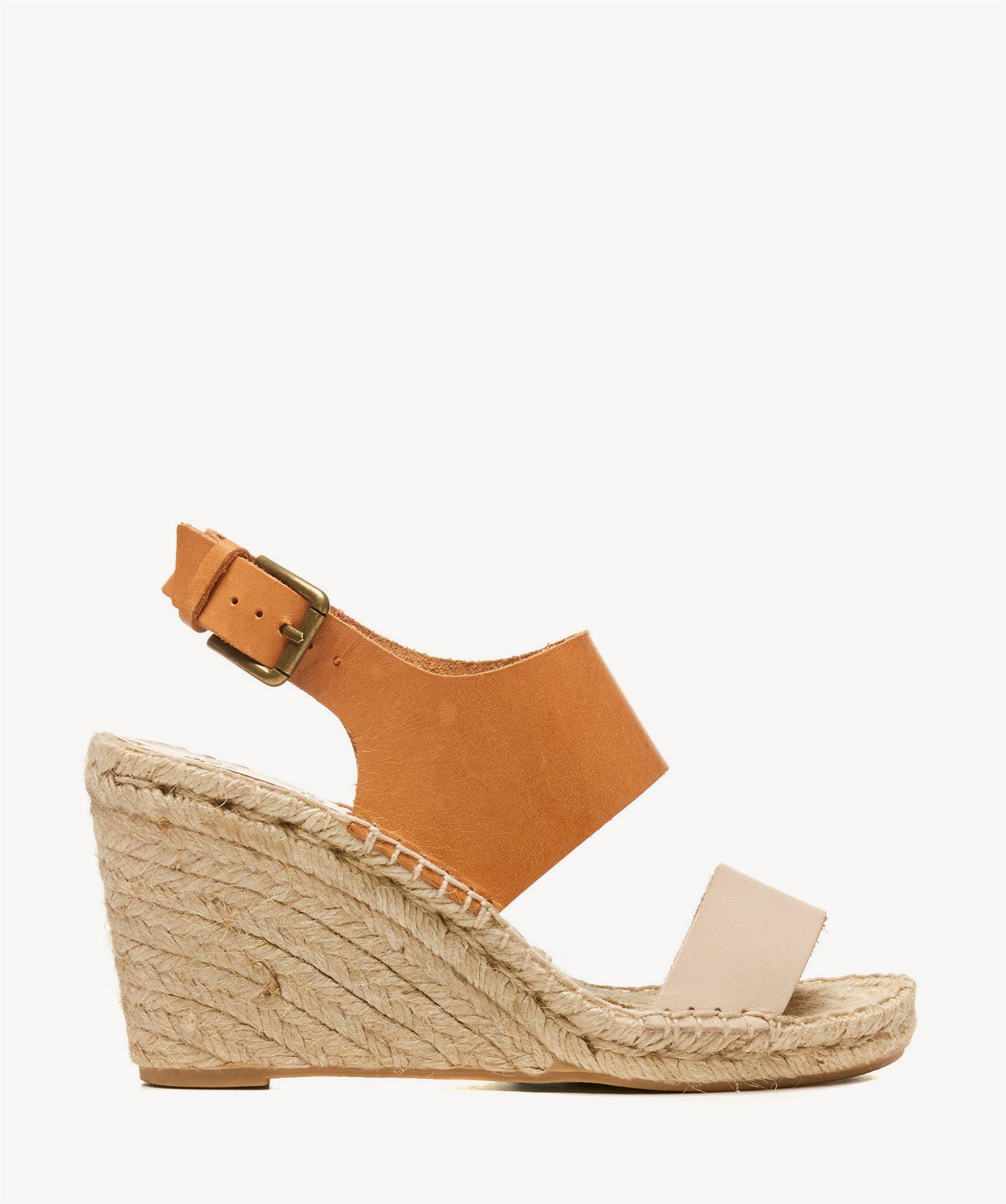 df14d77e6cd Soludos Bi Color Wedges Platform Sandals Nude ivory