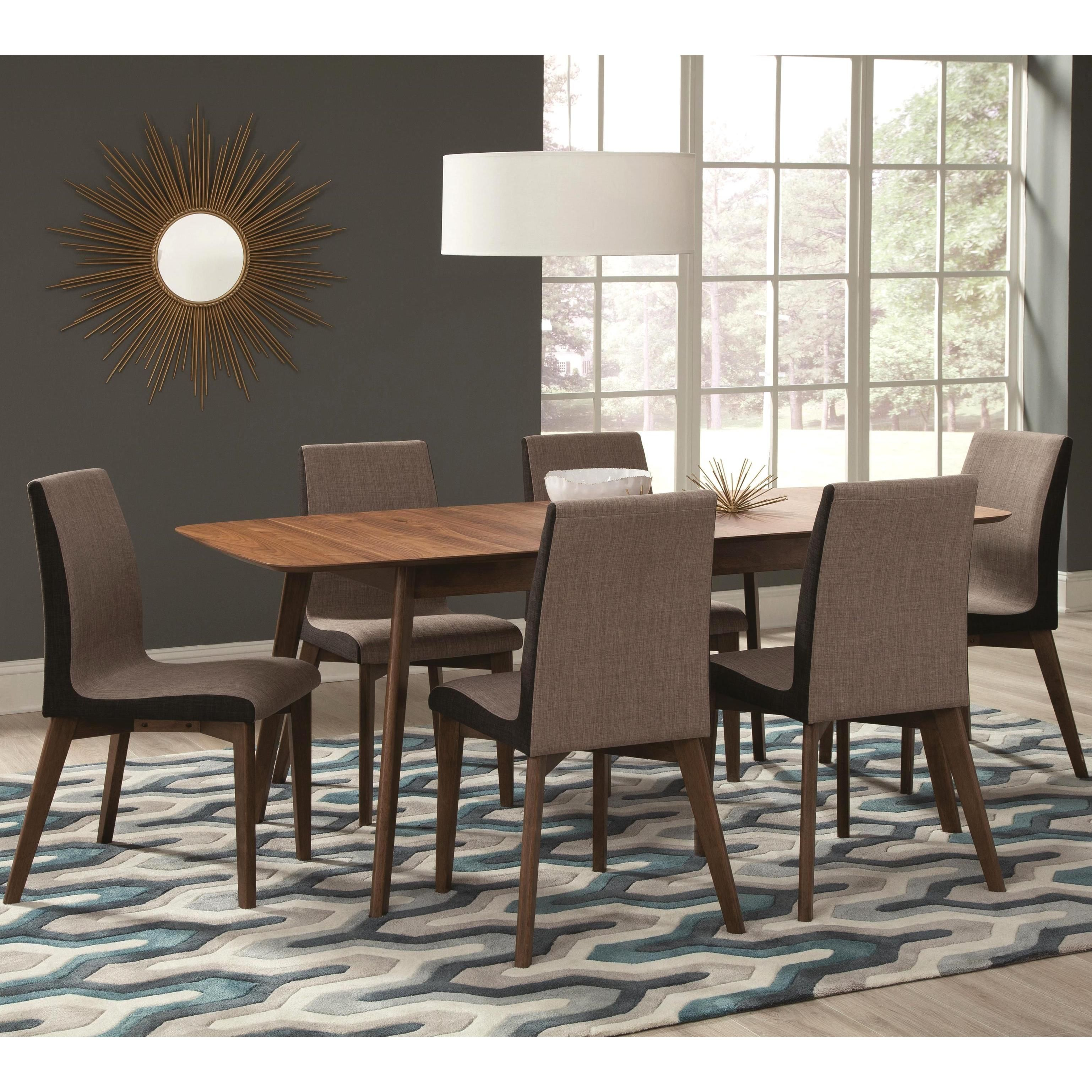 Midcentury Modern Design Nostalgic Dining Set Walnut