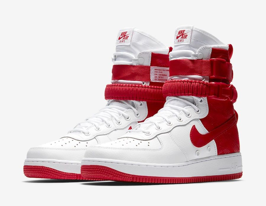 100% authentic 6ac59 c1fc6 Nike SF-AF1 High White University Red AR1955-100 | Shoes ...
