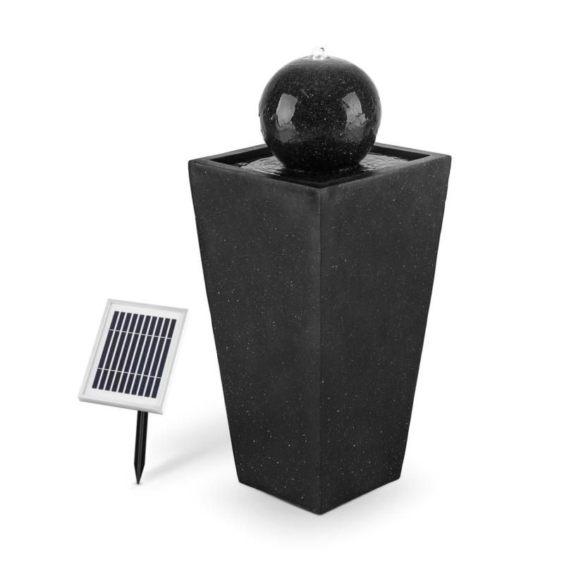 solar springbrunnen gartenbrunnen wasserspiel led. Black Bedroom Furniture Sets. Home Design Ideas