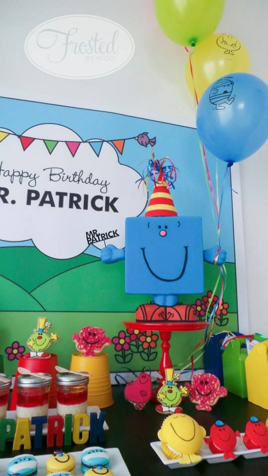 Little Big Company The Blog Mr Men Themed Birthday For Mr Patrick By Frosted By Nicci Birthday Theme Childrens Birthday Party Birthday Invitations Girl