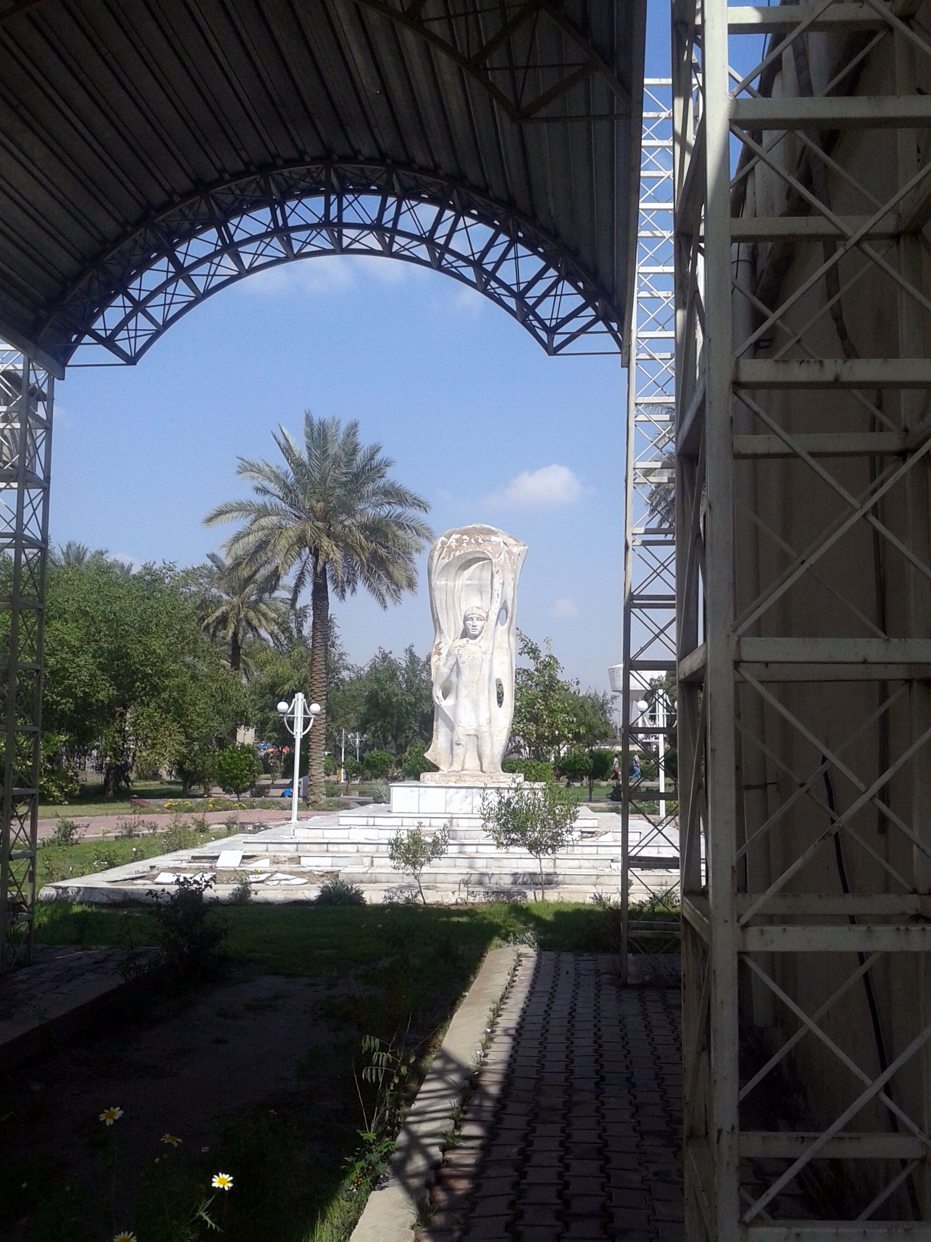 Women's Monument in the nation park in central Baghdad