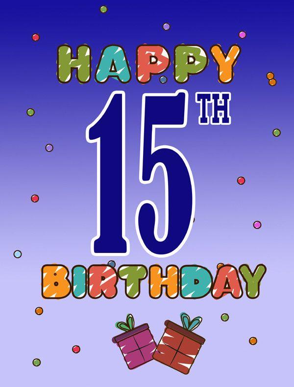 Happy 15th Birthday 2Sided Garden Flag – 15th Birthday Card