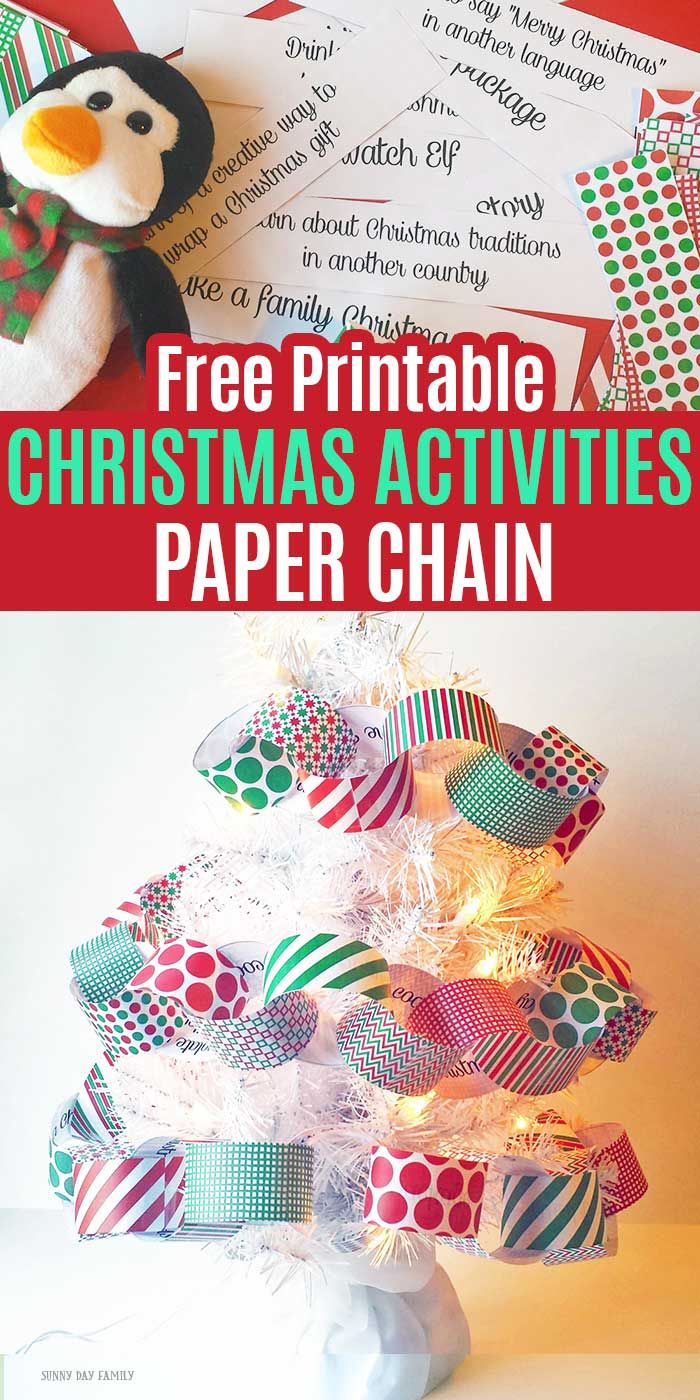Free Printable Christmas Activities Paper Chain -   19 diy christmas decorations for kids paper ideas