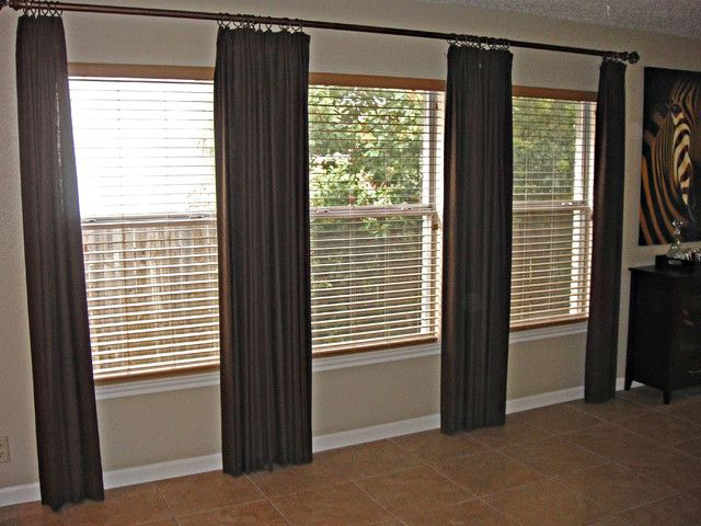 Decoration Extra Long Curtain Design Ideas Saving Money By Personally Making Rod