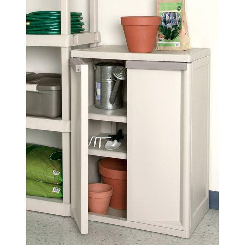 Kitchen Shelves Walmart: Sterilite 2-Shelf Storage Cabinet