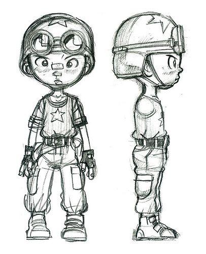 Comic Book Character Design Sheet : Character design for comic book tank boy