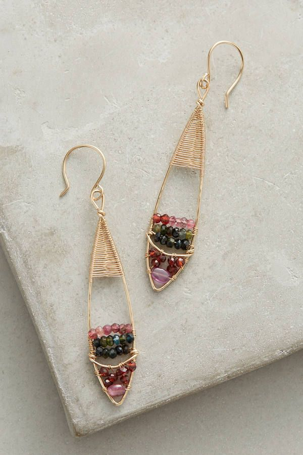 Emily Gibbons Gemstone Bouquet Earrings, affiliate link | wire ...