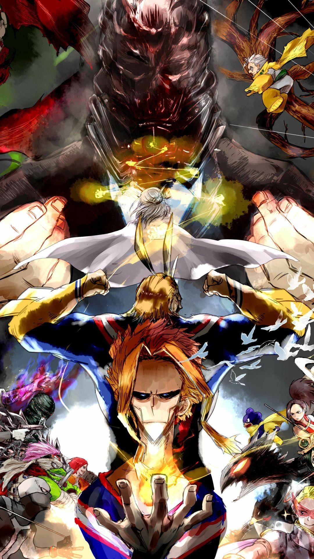 All Might X All For One Hero Wallpaper Hero Boku No Hero Academia