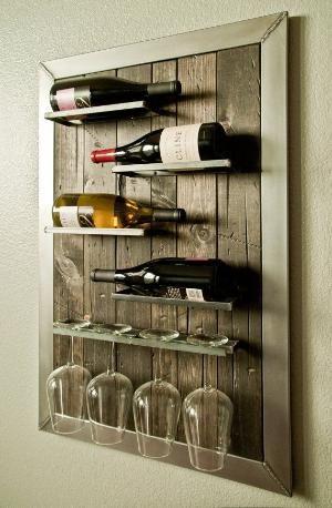 Wall Mounted Wine Rack And Glass Holder By Urbanwestdesigns By Beulah Wijnrek Muur Interieur Wijnrek