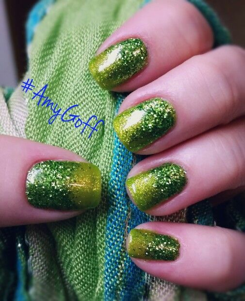 St. Patty's Day #gelish #nailart done by me #AmyGoff
