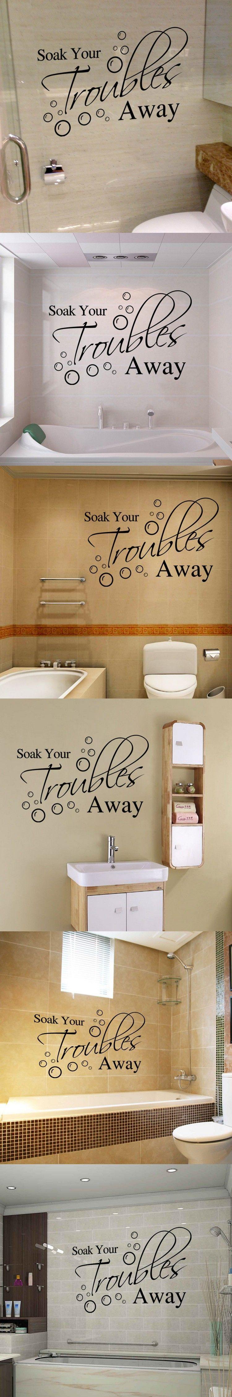 Badezimmer dekor zitate aw change your mood inspirational mirror decal  motivational