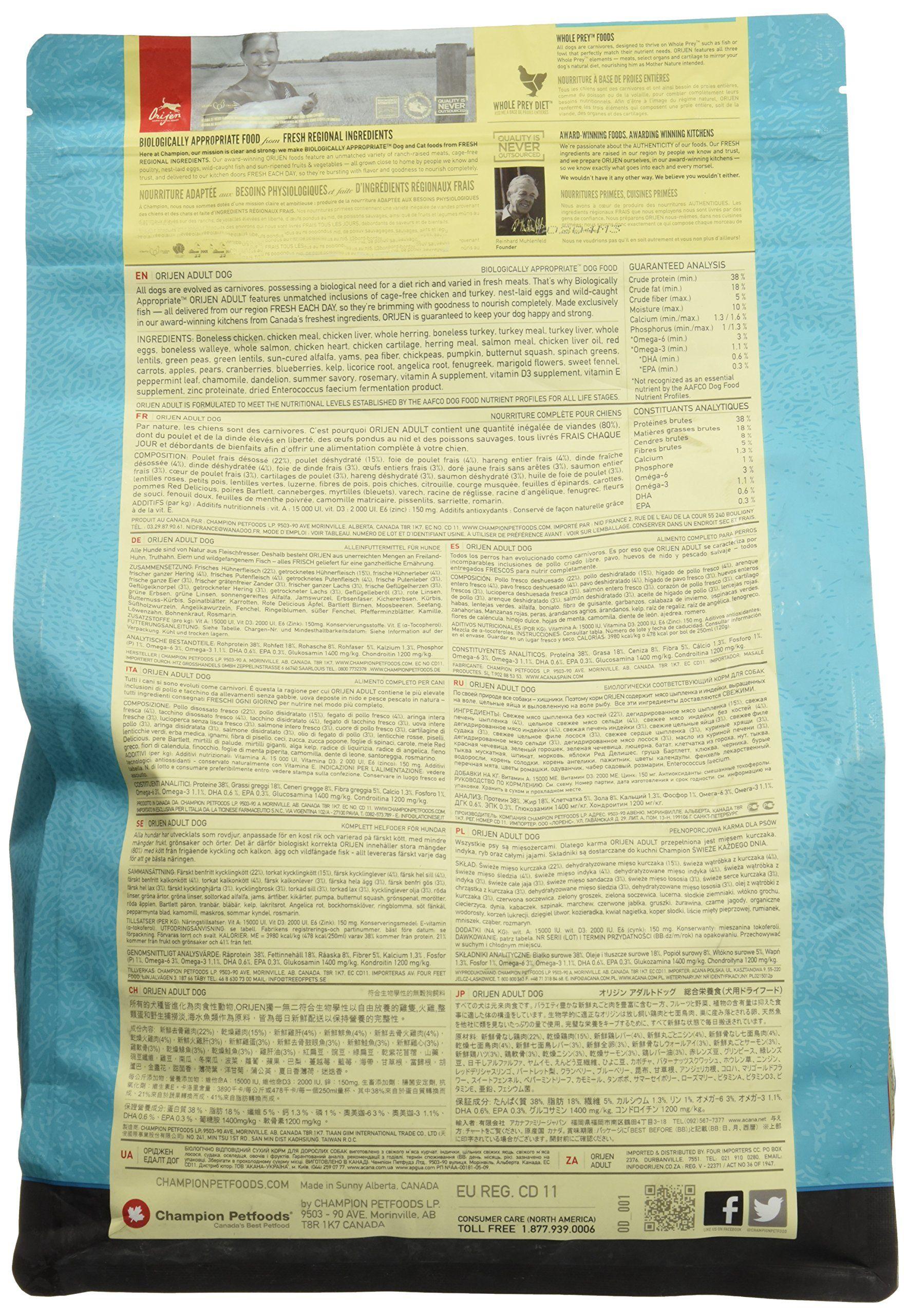 Orijen Grainfree Adult Dry Dog Food 5 Lb Details Can Be