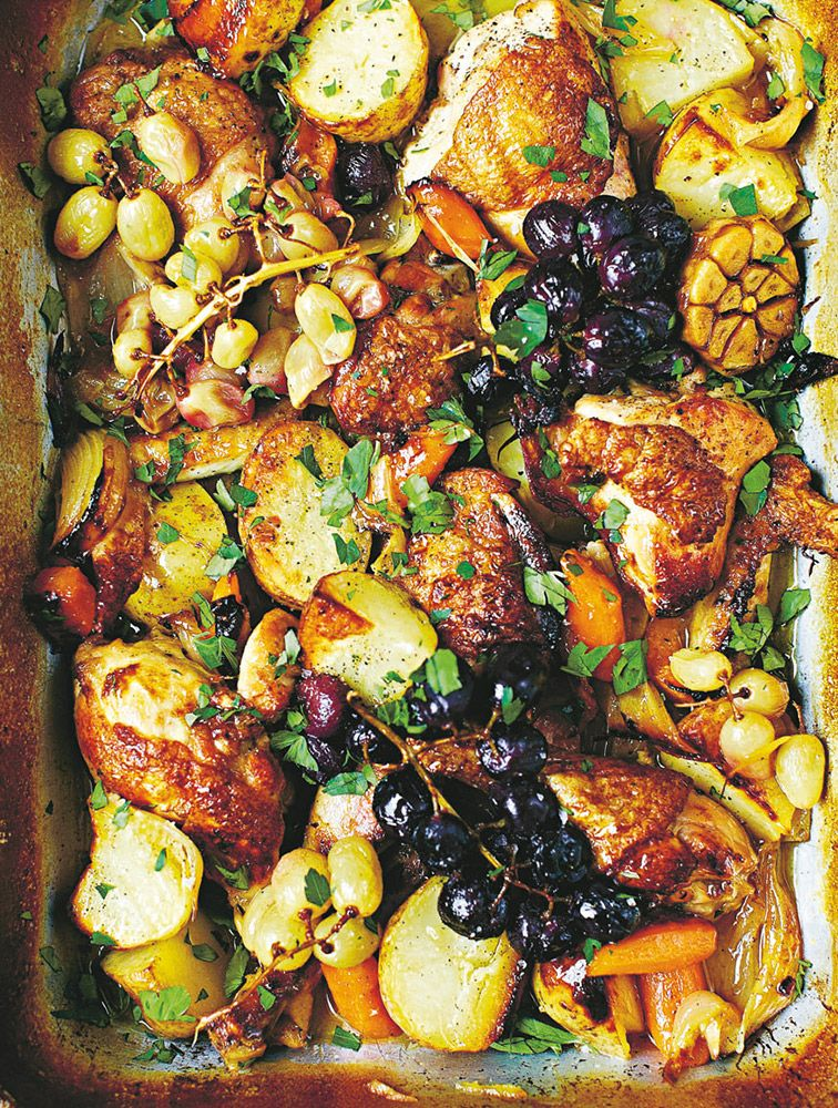 Try Our Easy To Follow Jamie 39 S Wine Braised Chicken With Roasted Grapes Recipe Absolutely Delicious With The Best Braised Chicken Recipes Chicken Recipes
