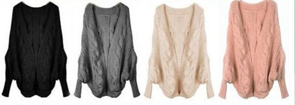 COWGIRL STYLE SWEATER Oversized COMFY Batwing Open Cardigan ...