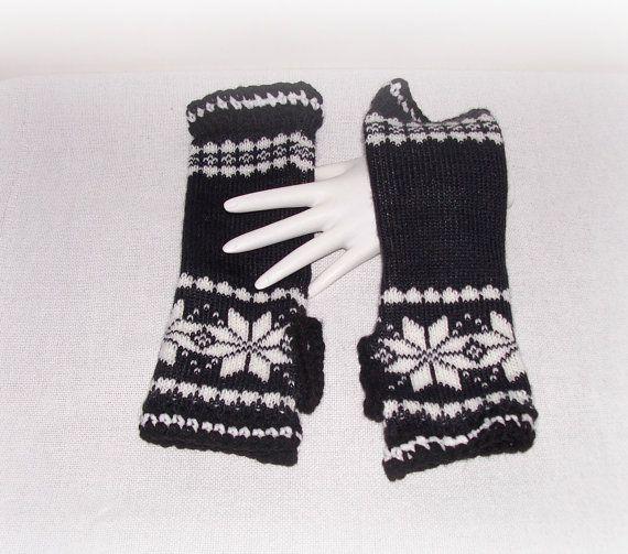Black White Knit Crochet Hippie Boho Fashion by ICreateAndCollect ...