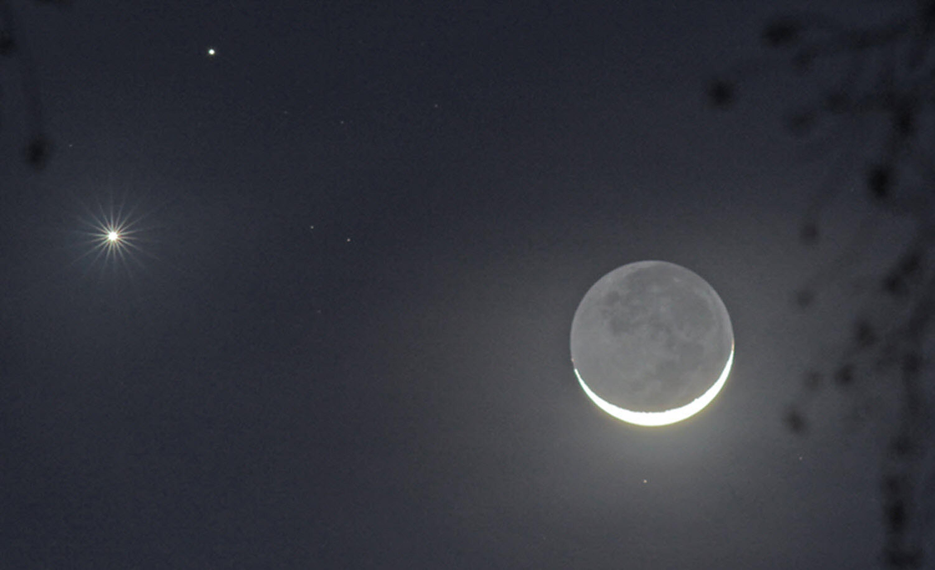 Mars, Venus & The Moon triple conjunction | Space Stuff