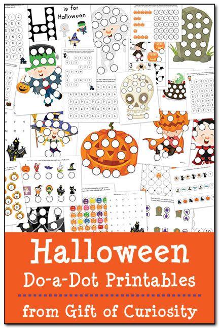 halloween do a dot printables for kids kid and shape. Black Bedroom Furniture Sets. Home Design Ideas