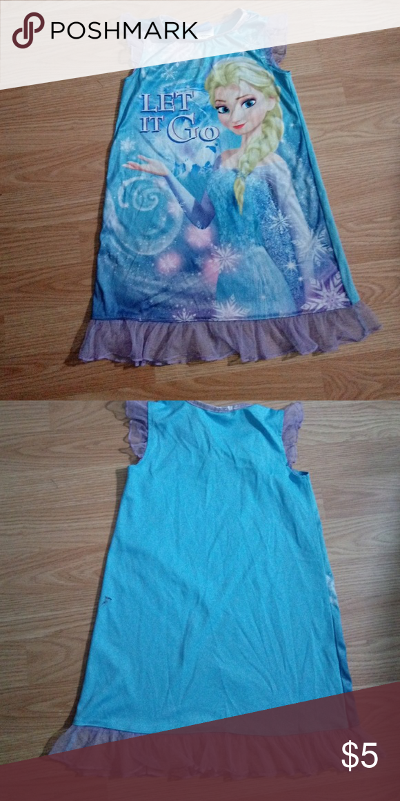 Little girl\'s nightgown | Nightgown, Disney frozen and Pyjamas