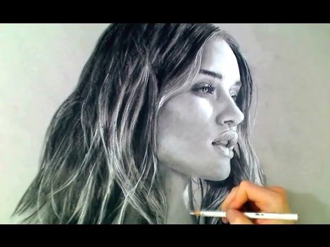 Rosie Huntington - Toned paper in charcoal - YouTube
