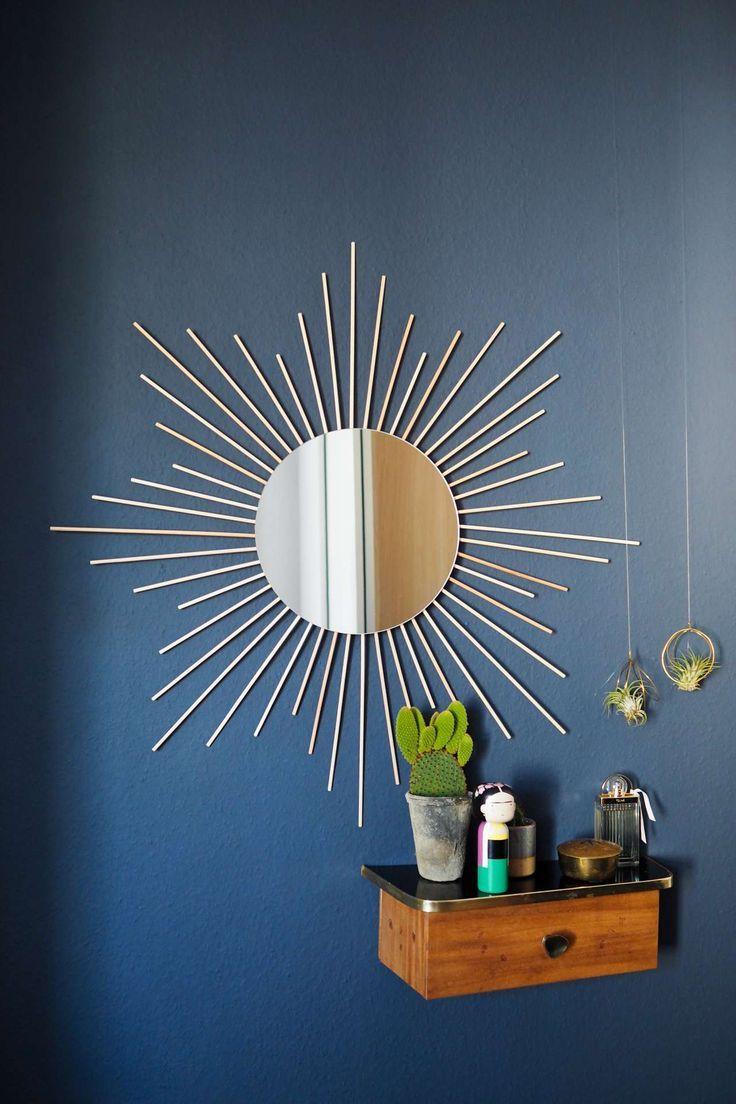 DIY Sonnenspiegel für dein Boho Zuhause #zuhausediy