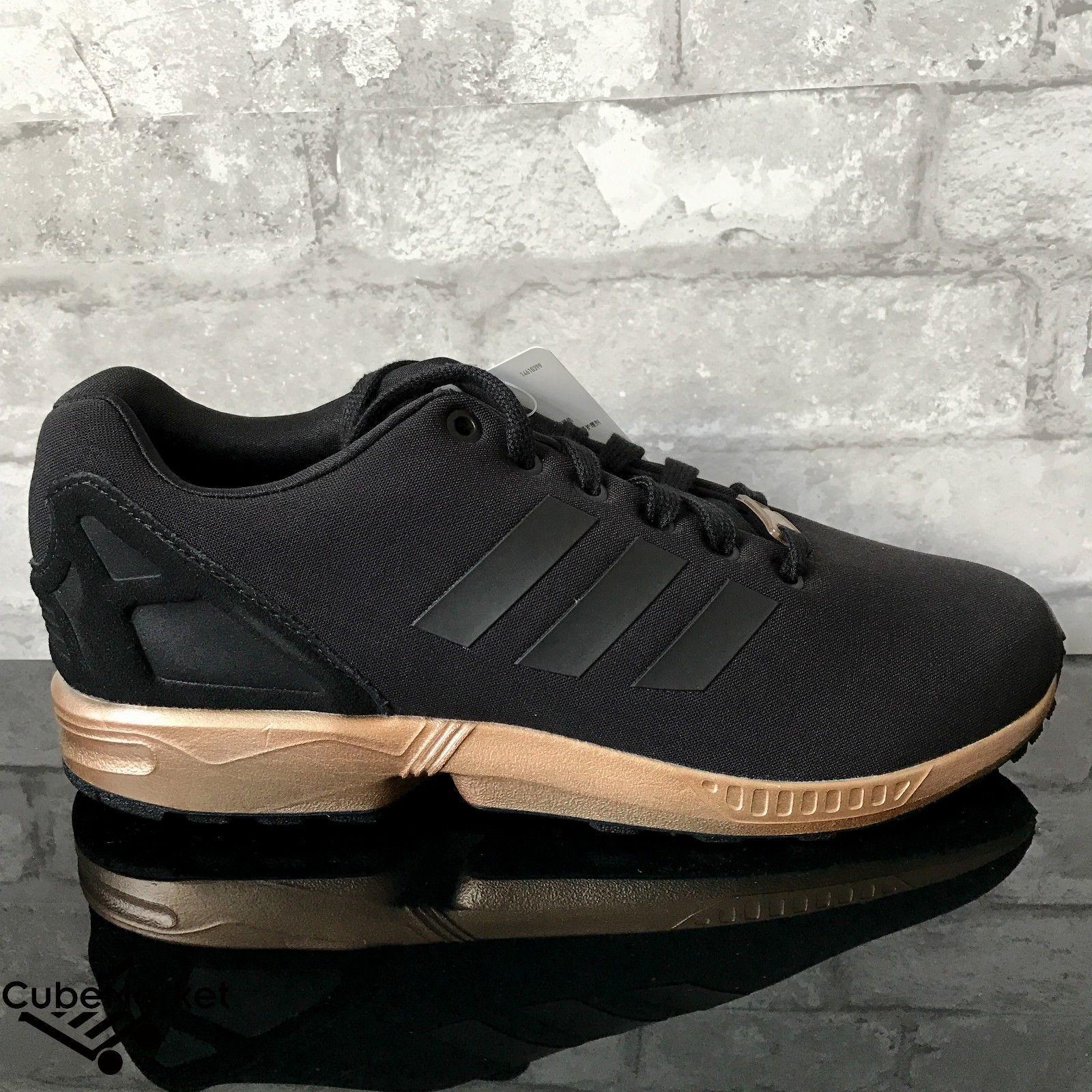 c0b4e0f1f Adidas ZX Flux W Black Copper Metallic Rose Gold S78977 Size 5-11 ...