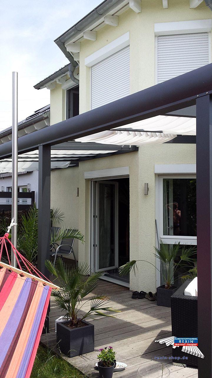 Alu Terrassendach Der Marke Rexopremium 10m X 4m In Anthrazit Mit