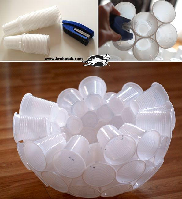 how to make snowman with paper cups
