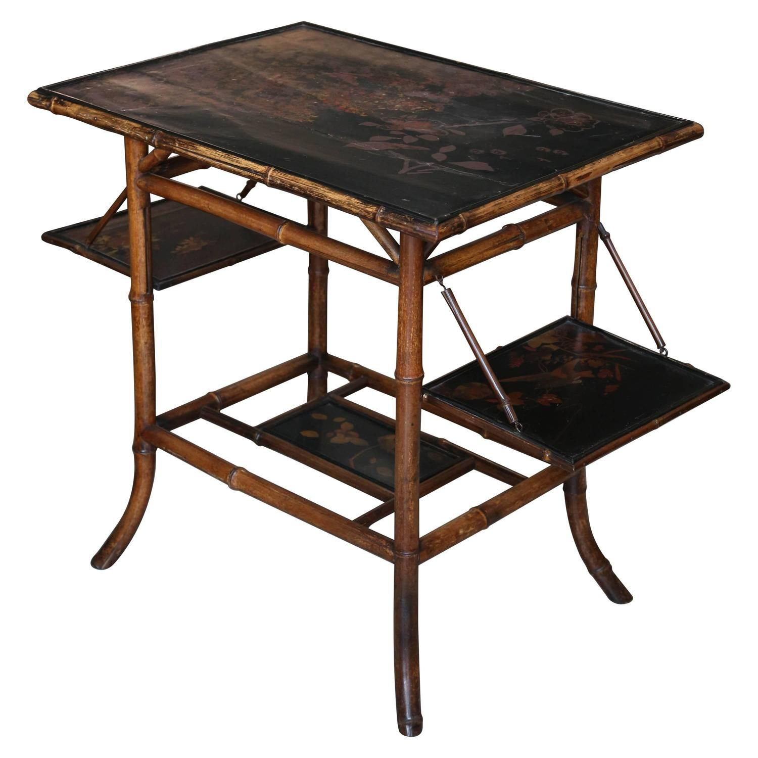 Large Scale 19th Century Chinoiserie Bamboo Pastry Table  # Meble Narcisse